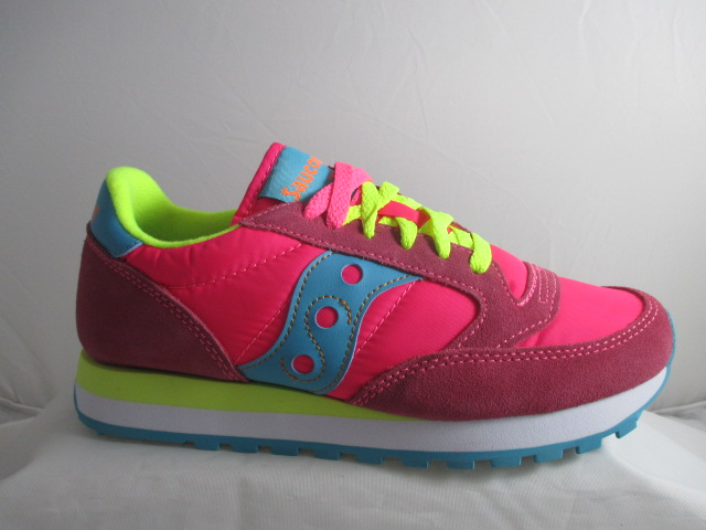 SAUCONY jazz original  pink yellow