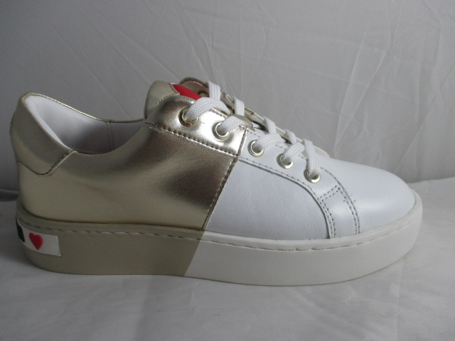 LOVE MOSCHINO sneakers Bianca + Oro