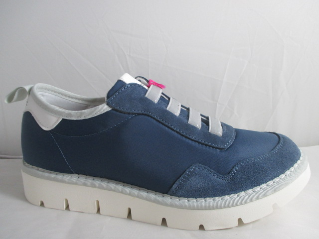 PANCHIC sneakers in camoscio + nylon blu